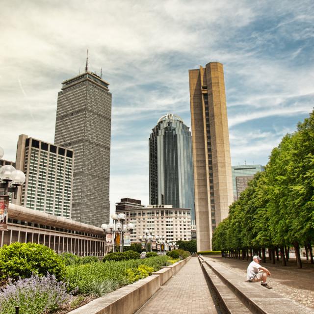 """view of Boston"" stock image"