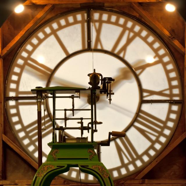 """clock mechanism"" stock image"