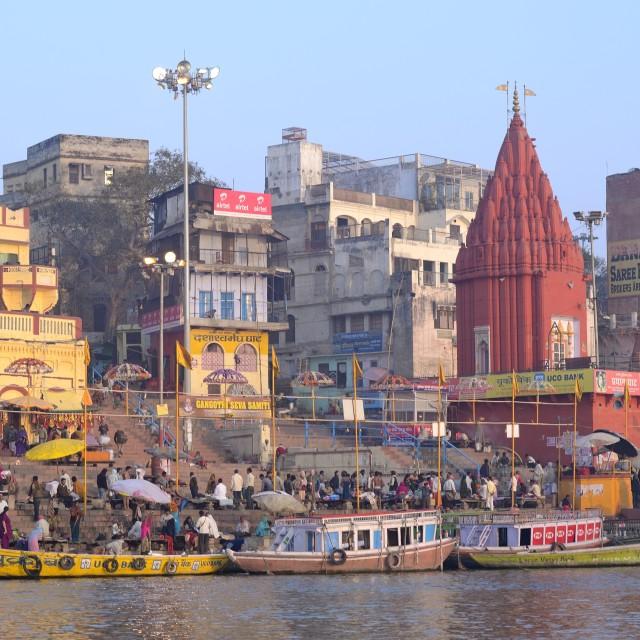 """Varanasi ganges"" stock image"