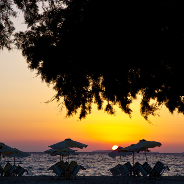 """Kos Sunset Greece"" stock image"