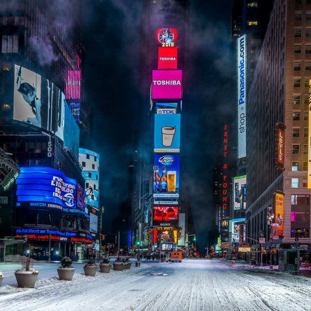 """Snowmageddon Times Square 2015"" stock image"