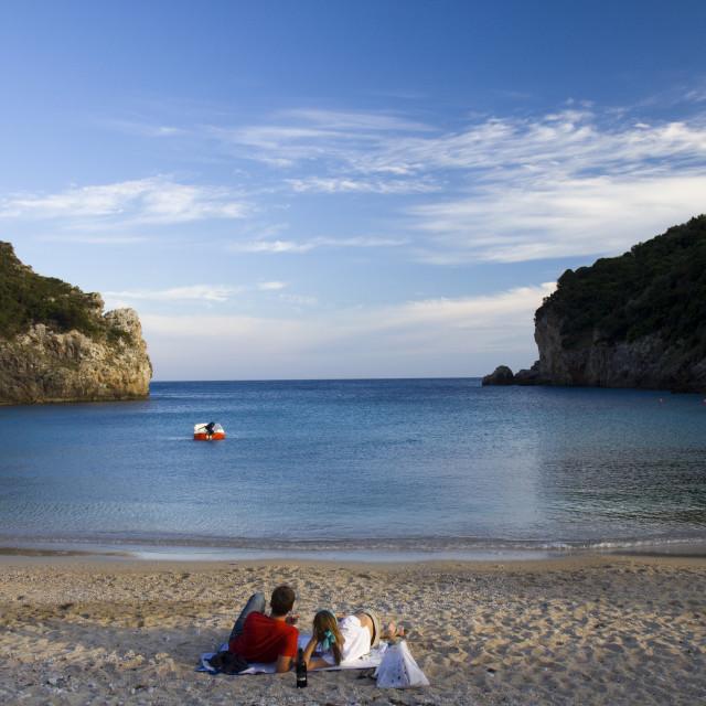 """""""Corfu Lovers"""" stock image"""