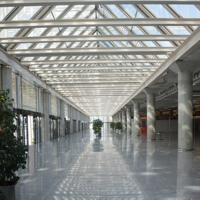 """Airport interior Majorca"" stock image"