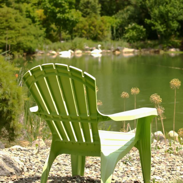 """Adirondack chair"" stock image"