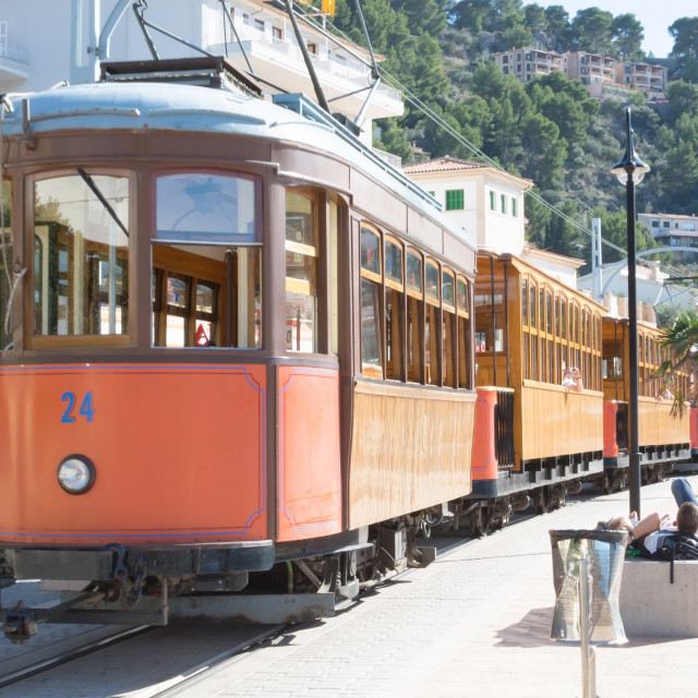 """""""Tram routing Soller down to the port"""" stock image"""