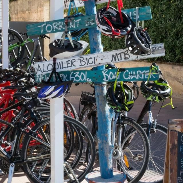 """Bike rental agency"" stock image"