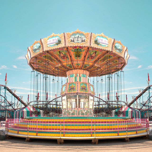 """old fashioned carousel"" stock image"
