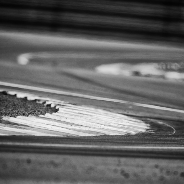 """Kerbs at Le Mans"" stock image"