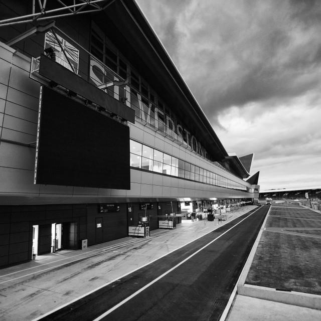 """Silverstone Pitlane"" stock image"