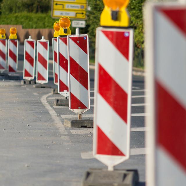 """Roadworks"" stock image"