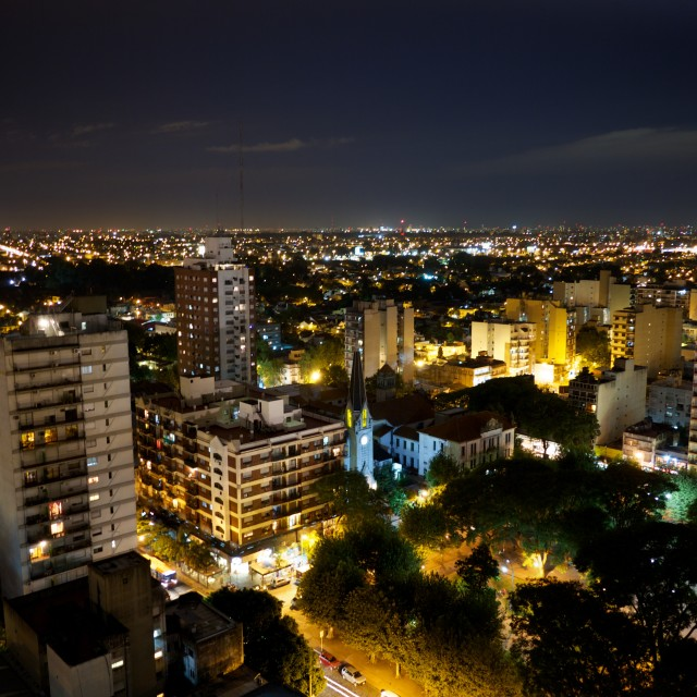 """Buenos Aires at night 2"" stock image"