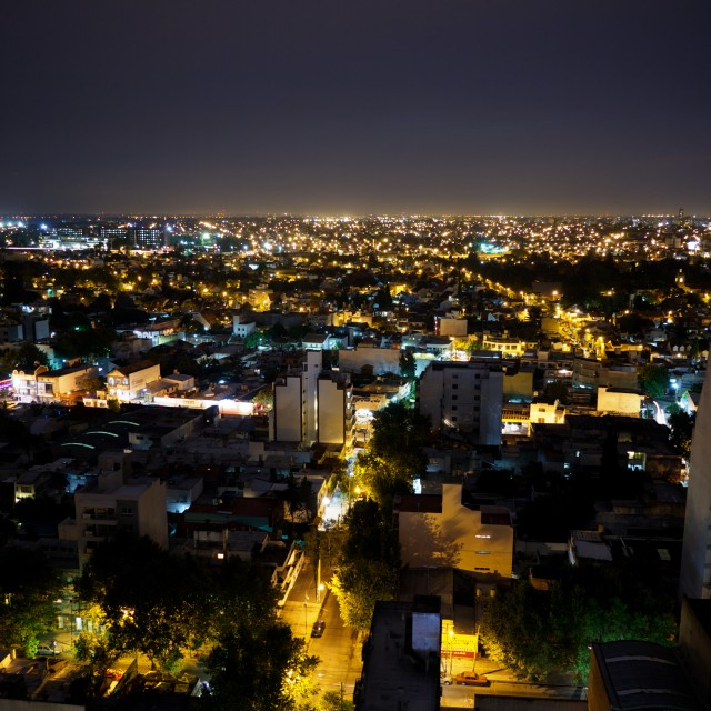 """""""Buenos Aires at night 1"""" stock image"""