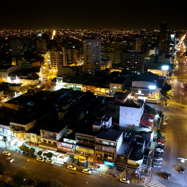 """Buenos Aires at night 4"" stock image"