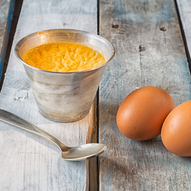 """egg flan, homemade"" stock image"