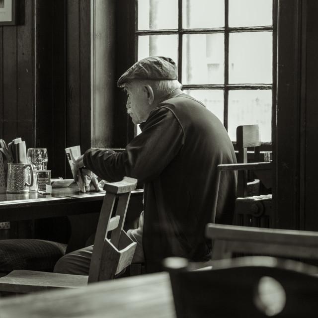 """Down the pub"" stock image"