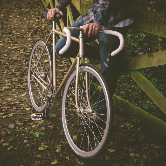 """Fixie bike"" stock image"