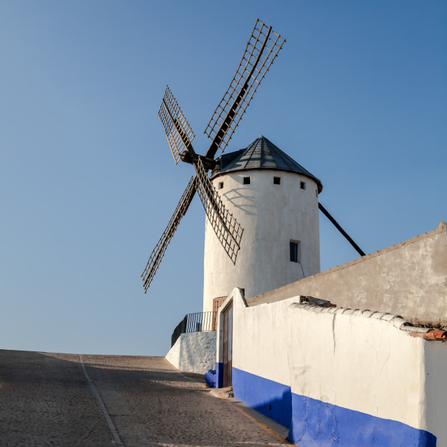 """""""Windmill in Spain"""" stock image"""