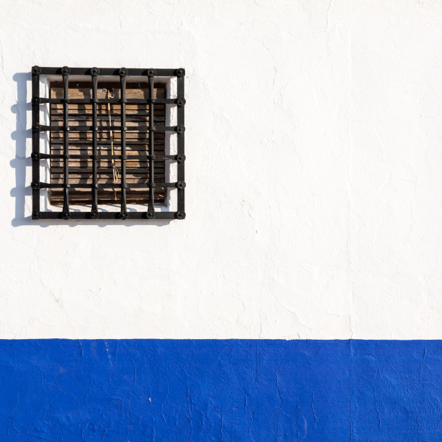 """Window in Andalusian white villages in Spain"" stock image"