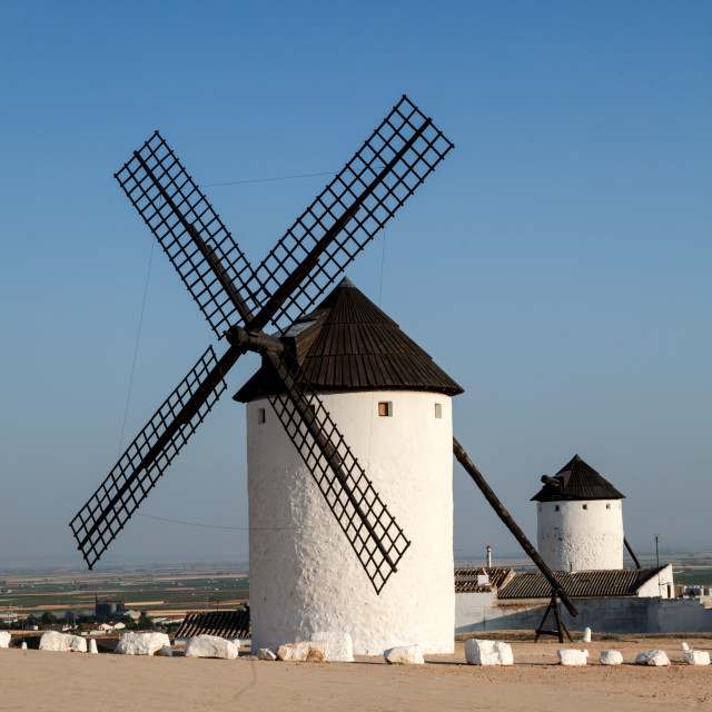 """Windmill in Spain"" stock image"