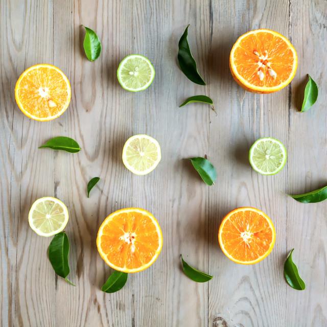 """Oranges and lemons"" stock image"