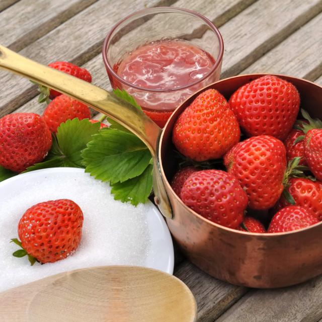 """preprare strawberry jam"" stock image"