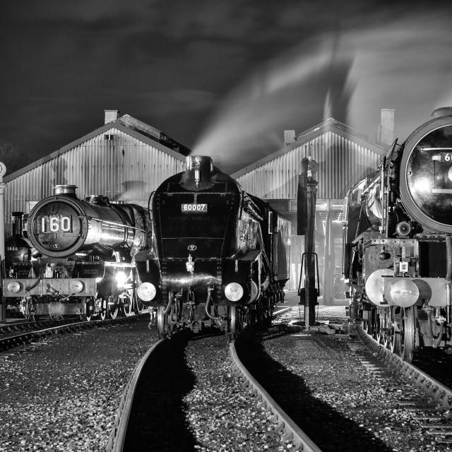 """Trio of Engines"" stock image"