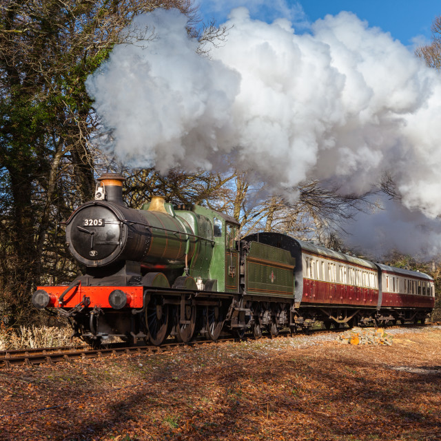 """GWR 0-6-0 No.3205"" stock image"