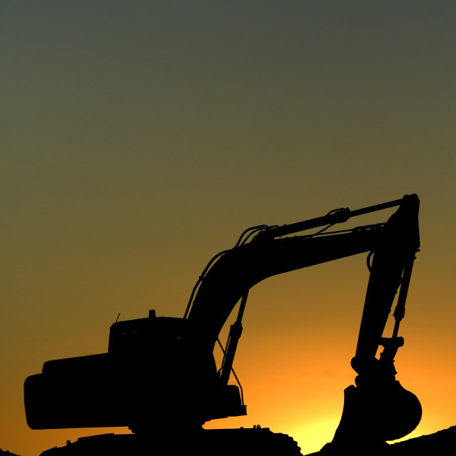 """a great excavator"" stock image"