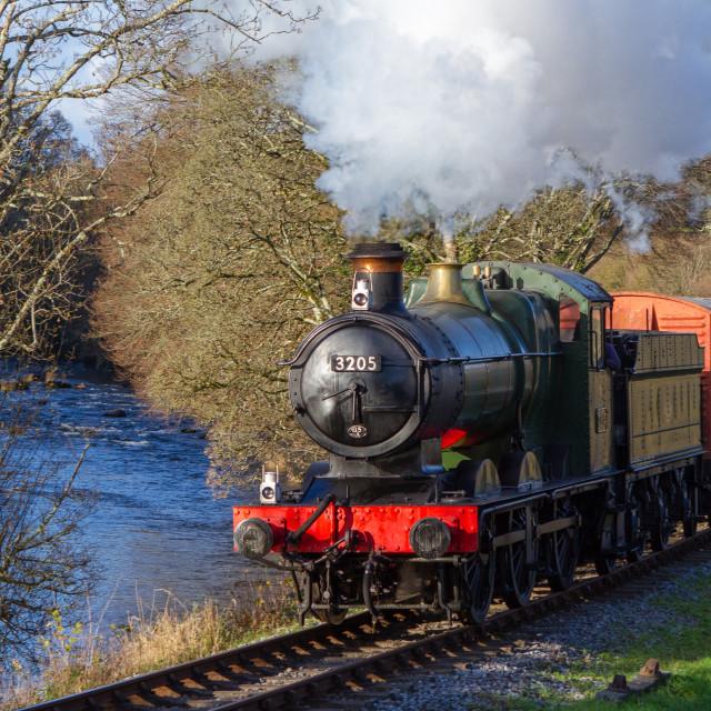 """GWR 0-6-0 No.3205"" stock image"