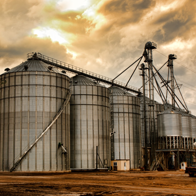 """industrial silos"" stock image"