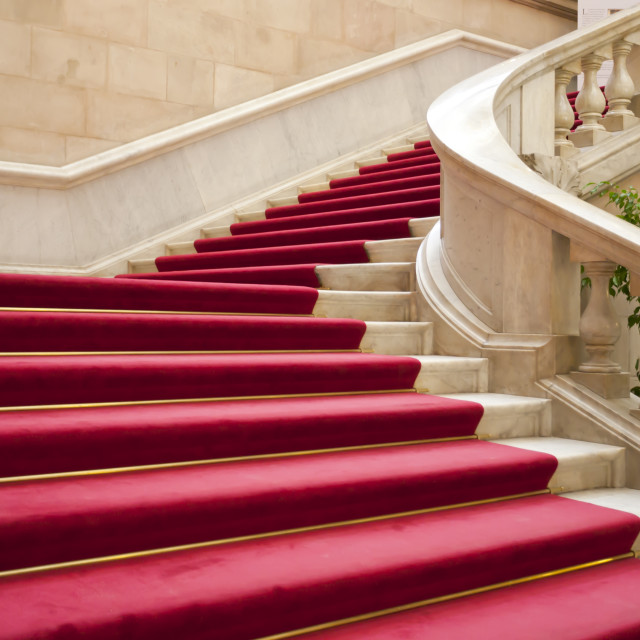 """""""Stairs with carpet"""" stock image"""