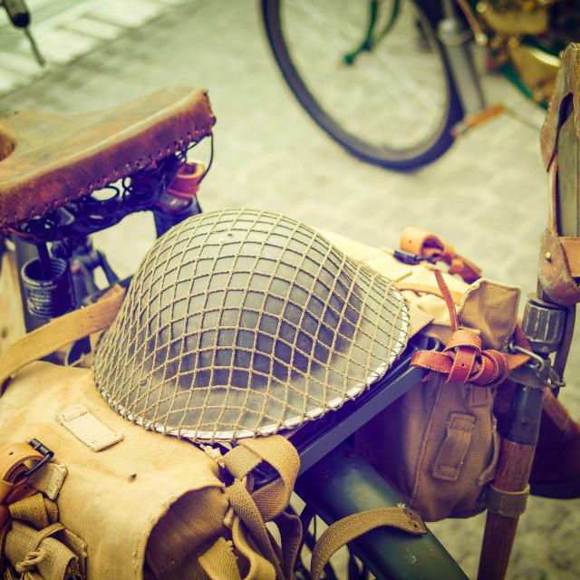"""The military bike"" stock image"