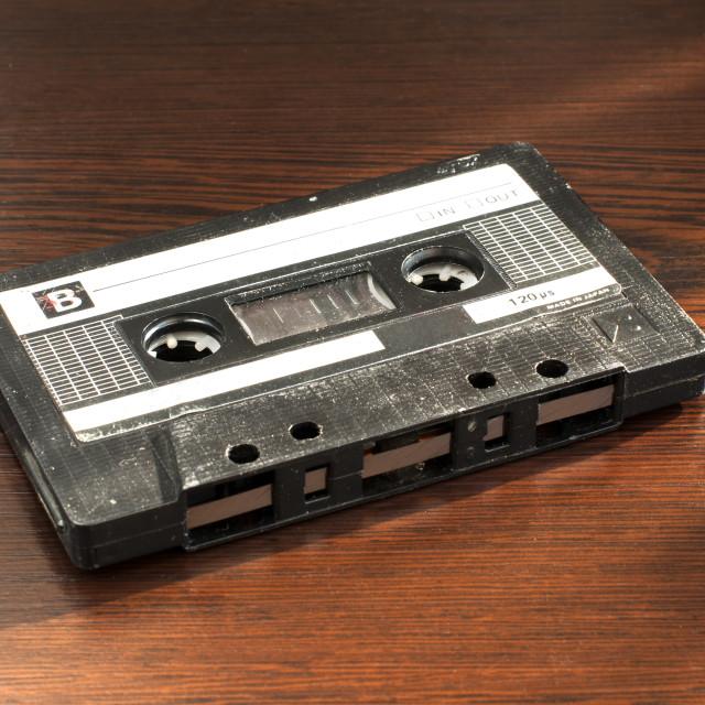 """Audio tape cassette"" stock image"