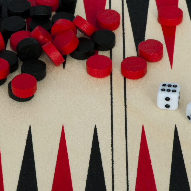 """""""Backgammon and dices"""" stock image"""