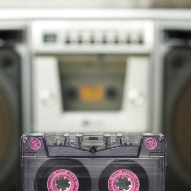 """""""Audio cassette and player"""" stock image"""