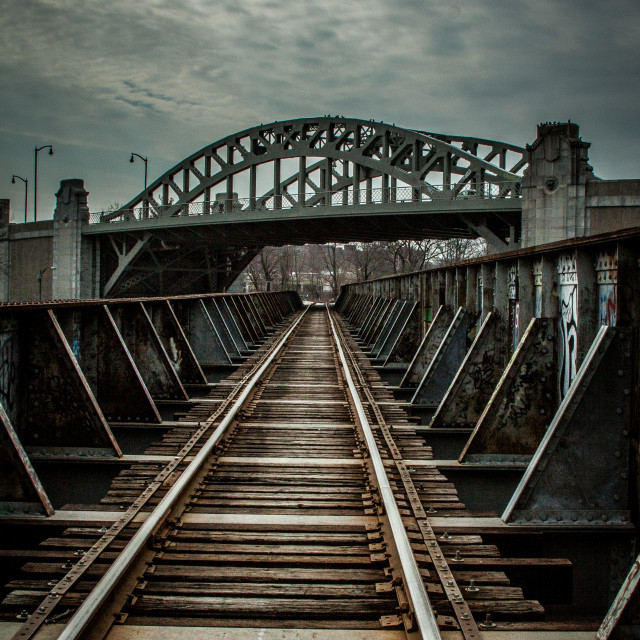 """BU train bridge"" stock image"