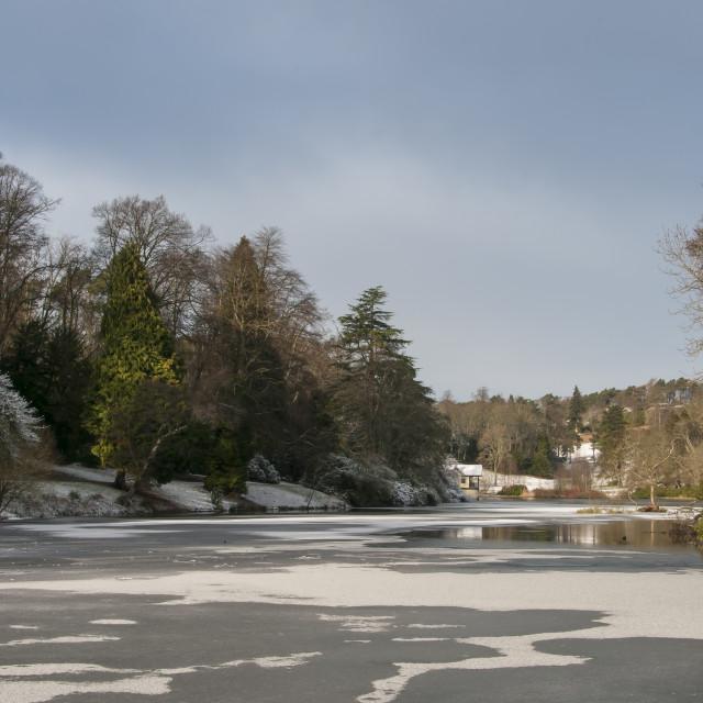"""""""Frozen Loch"""" stock image"""