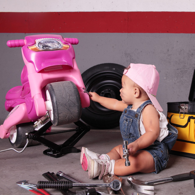 """young mechanic"" stock image"