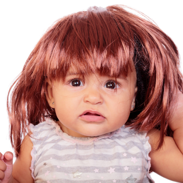 """baby and wig"" stock image"