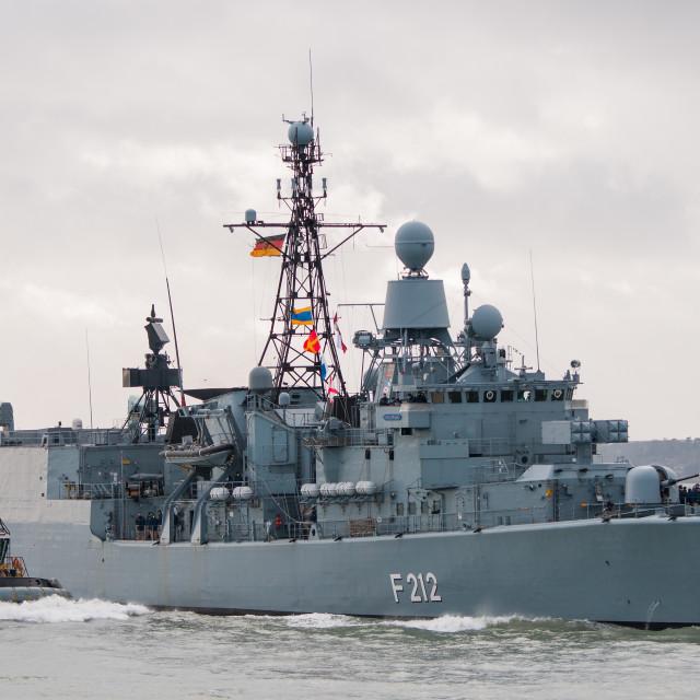 """German Navy Frigate"" stock image"