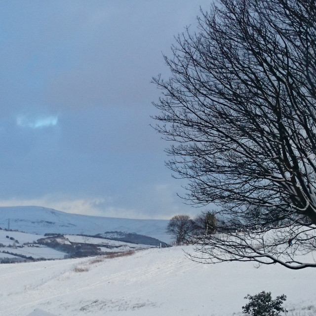 """Snow on the Pennines"" stock image"