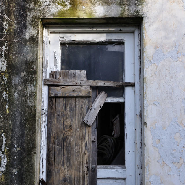 """""""old door and textured wall"""" stock image"""