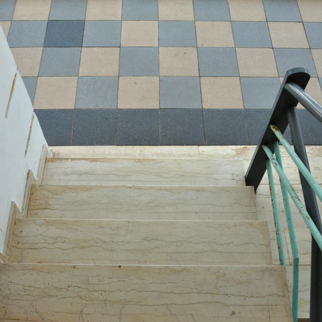 """marble steps tiled floor"" stock image"