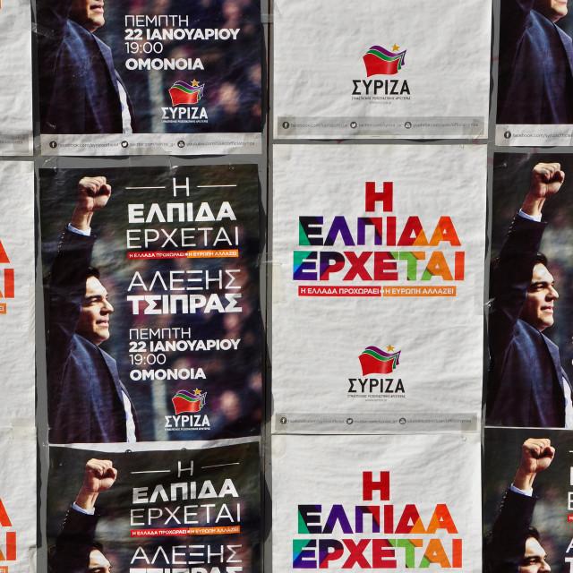 """syriza posters"" stock image"