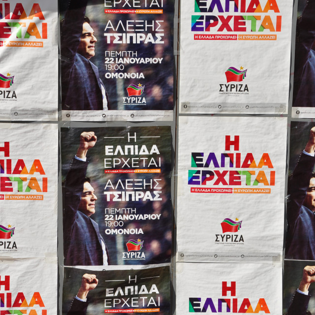 """""""syriza campaign posters"""" stock image"""