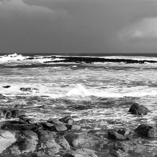 """Atlantic Storm Black And White"" stock image"