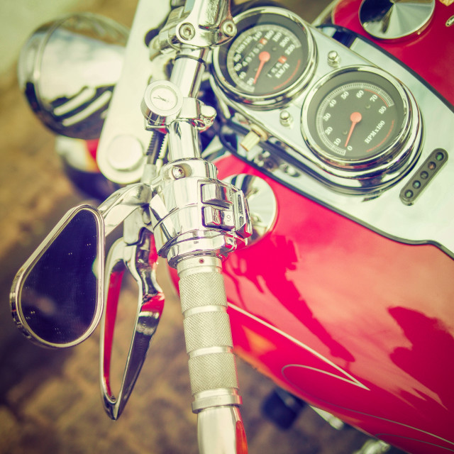 """""""Red and chrome"""" stock image"""