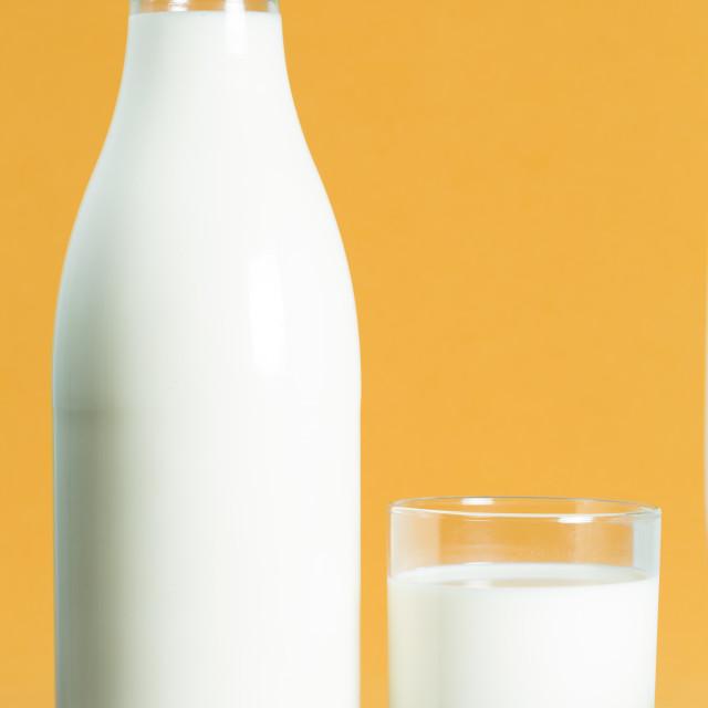 """Milk bottle"" stock image"