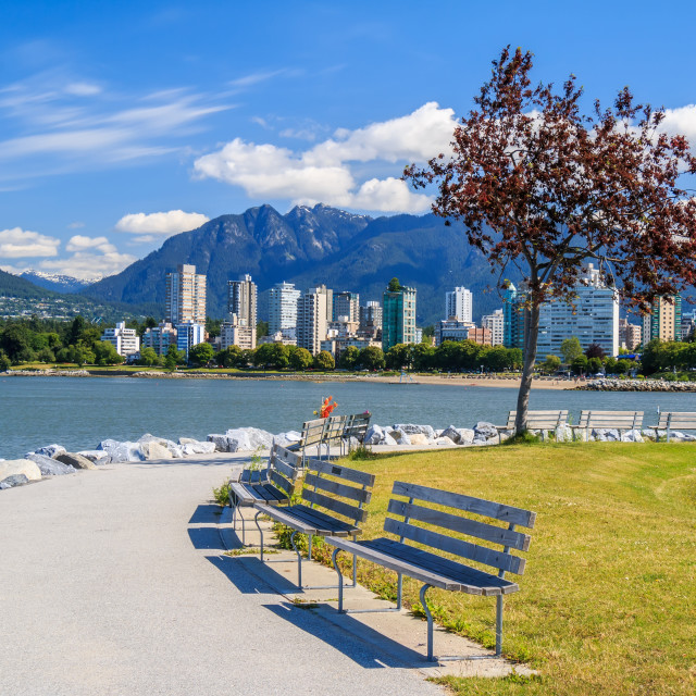 """The West End of Vancouver"" stock image"