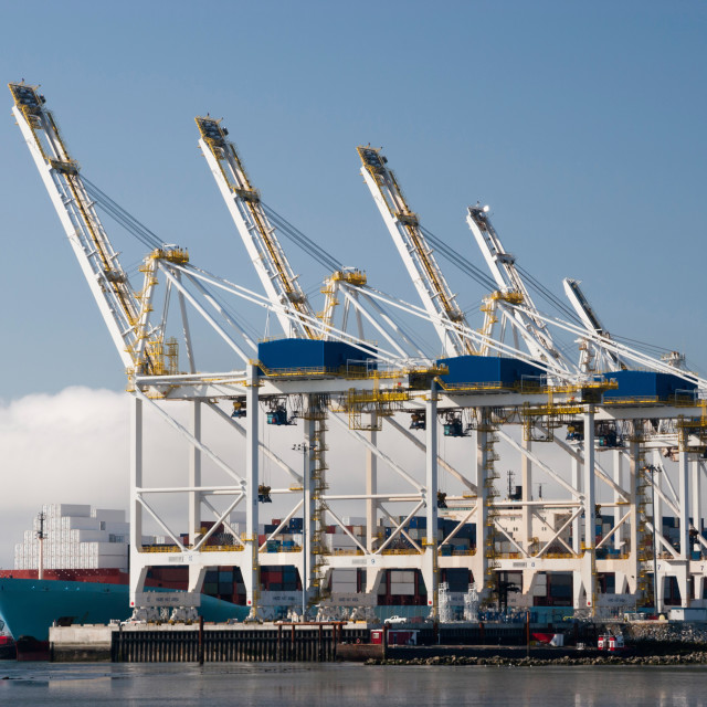 """Container Terminal"" stock image"